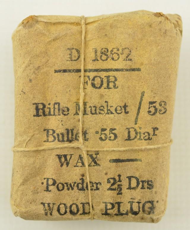 Civil War Confederate 1862 Ammo Packet Musket Cartridges