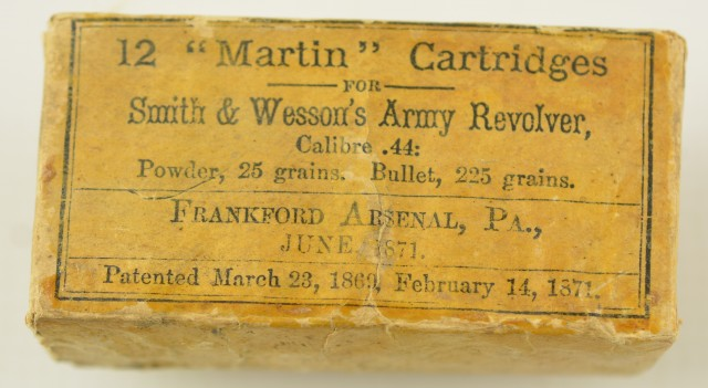 Frankford Arsenal 44 S&W American Cartridge packet 1871