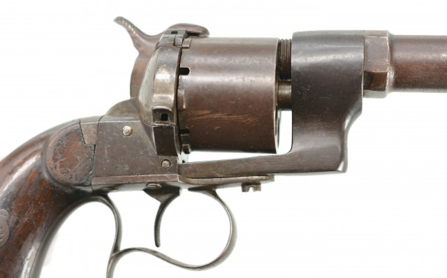 Pinfire 10mm Revolver With Shoulder Stock Civil War?