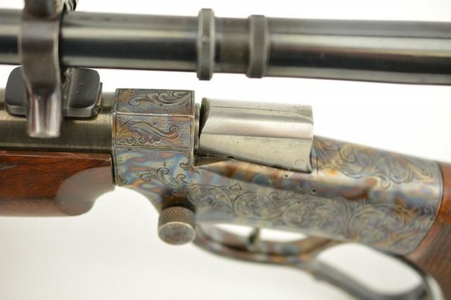 Hubalek Small Frame Ballard Type Target Rifle Hubalek-Worn Hammerless