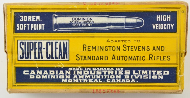 Dominion 30 Remington Box From Reference Collection