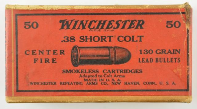 Winchester 2 Piece Box 38 Short Colt