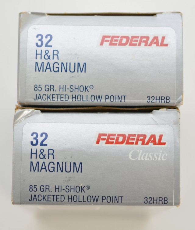 32 H&R Magnum Lot of 3 Boxes 85 Gr. JHP 95 Gr. SWC Ammo