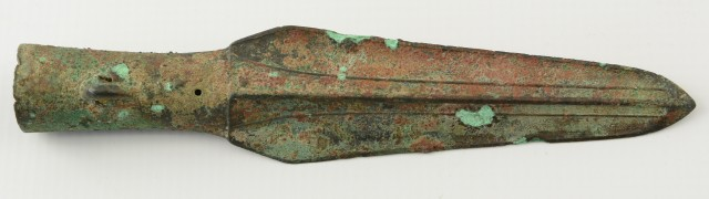 Chinese Han Dynasty Bronze Spearpoint