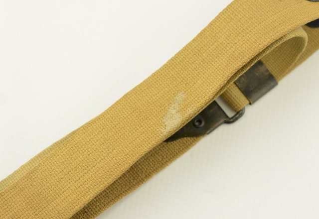 WW2 US Kerr NOBUCKL Canvas Sling for Thompson SMG