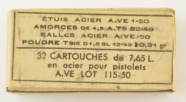 Original French 7.65 Long Ammo 32 And Pack