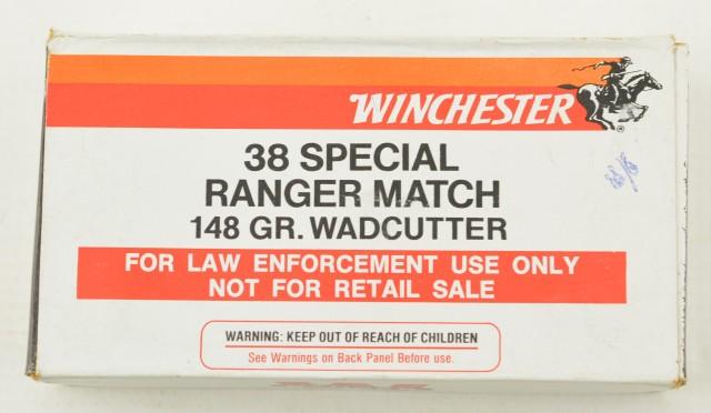 RCMP Marked Winchester 38 SPL Range Match Ammo