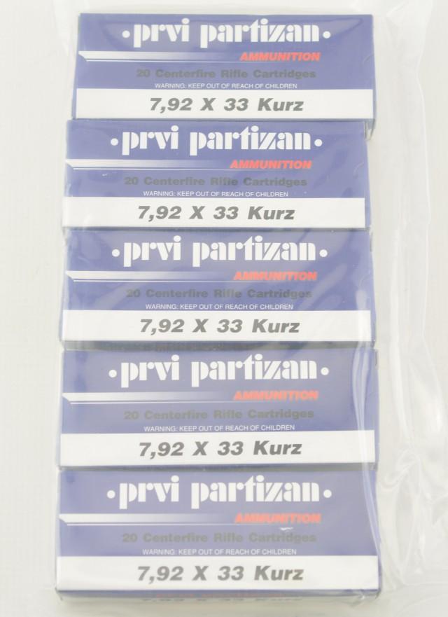5 Boxes of PPU 7.92x33 Kurz