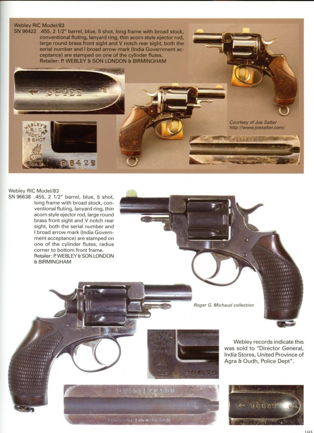 Webley Solid Frame Revolvers Models RIC, MP, and No. 5 Book