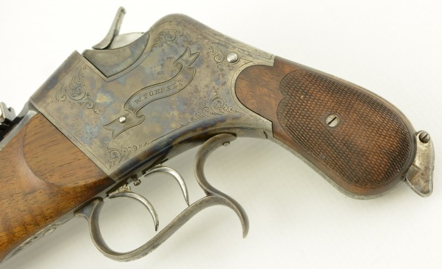 Scharfenburg Tell Model Match Pistol by W. Foerser / Foerster