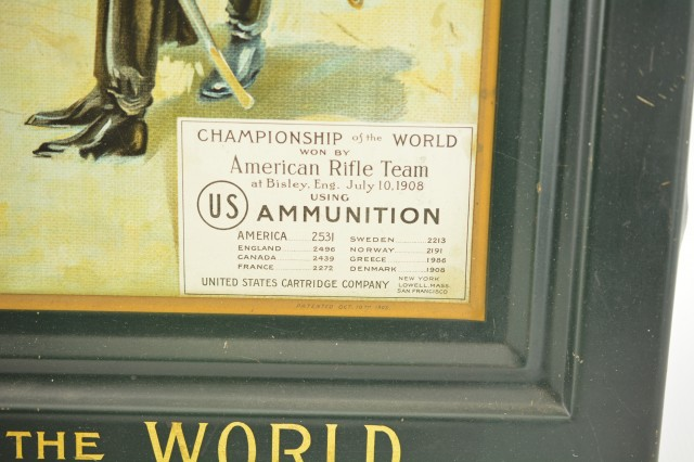 United States Cartridge Co. Advertising Tin Sign