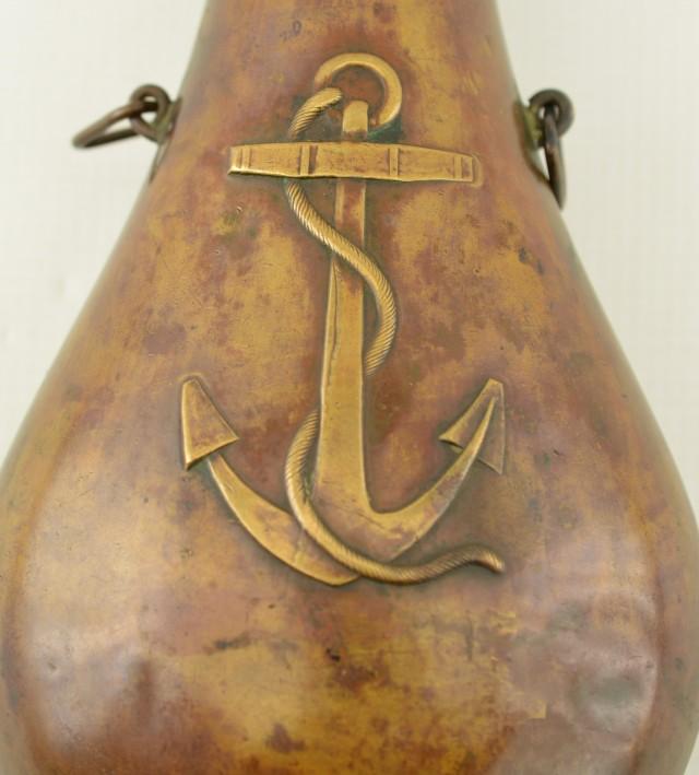 Unusual USN Powder Flask by Stimpson