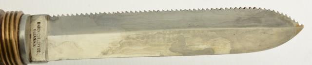 WW2 US Navy KA-BAR Diving Knife Leather Handle