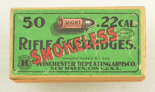 Winchester 22 Short 2nd Issue Smokeless Sealed Box