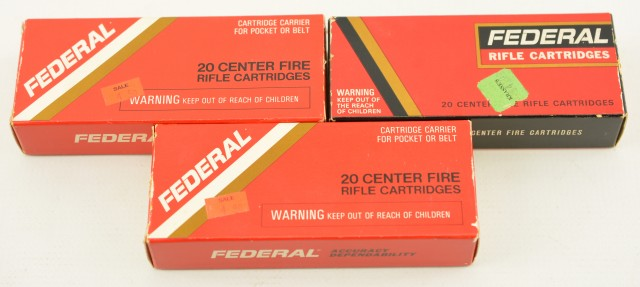 Federal 222 Remington 50 Gr. SP 119 Ends