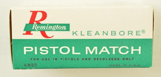 Remington 22 LR Kleanbore Pistol Match 1967 Issue