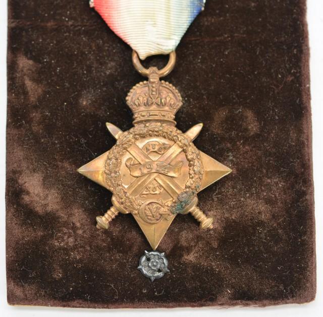 WW1 1914 Mons Star Awarded to Lt. L.A. Bernard (Posthumous)