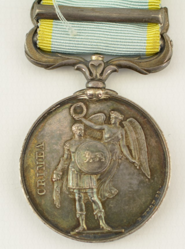 Crimean War Medal and Clasp of Pvt. P. Maher, 46th Reg't.