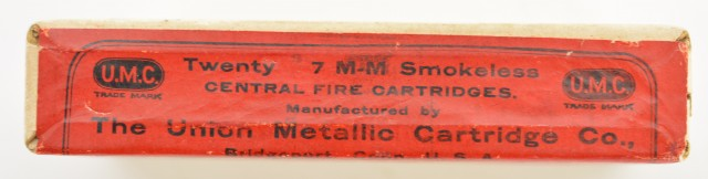 U.M.C. Union Metallic 7 mm Mauser Full Box Ammunition Mint
