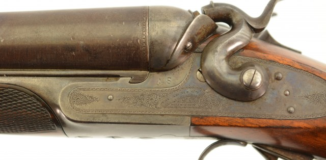 Rare American Arms Co. Boston 10Ga SXS Side Swing G.H. Fox Pat.