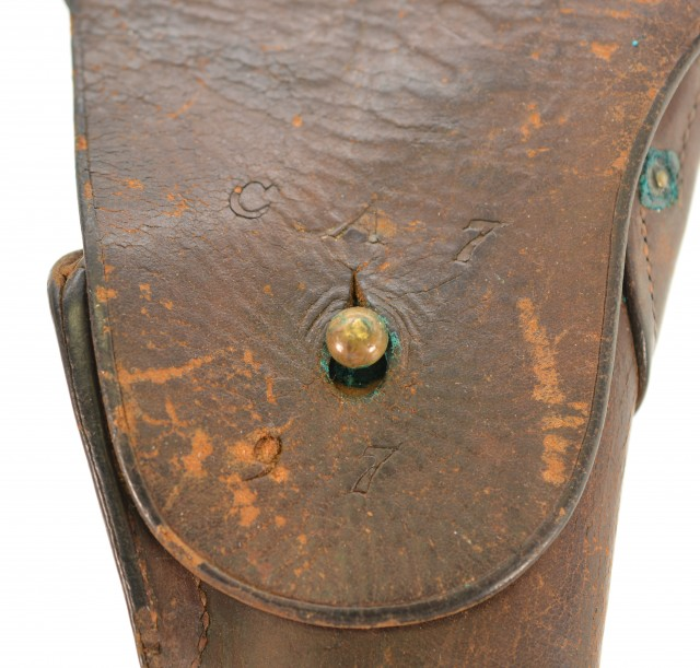 WWI M1916 Holster Unit Marked Coastal Artillery USGI 45