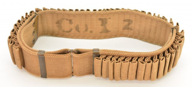 Marked Spanish American War Mills Double Loop Ammo Belt