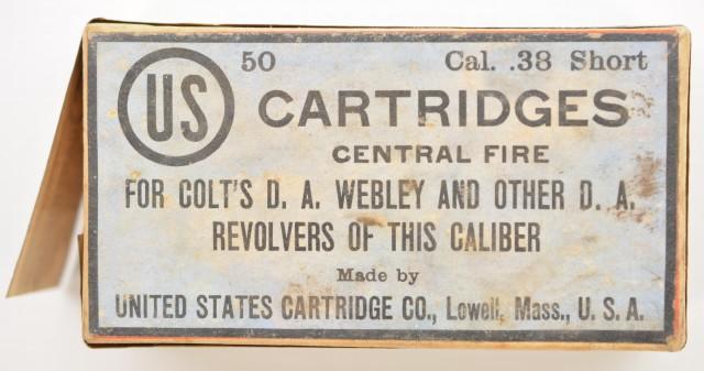 US Cartridge Co. 38 Short CF Colt Webley Callouts