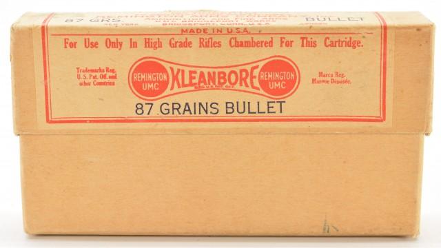 Early Scarce .257 Remington Roberts (25 Roberts) Ammo Full Box