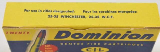Full Box C-I-L .25-35 Soft Point 117 Gr. Bullet Excellent Ammo