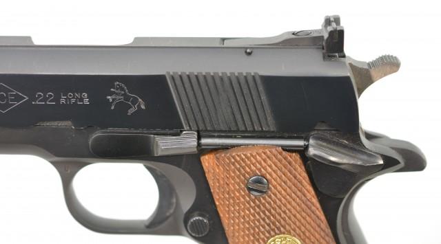 Colt Post-War Ace Service Model 22 LR Pistol 1981 Excellent