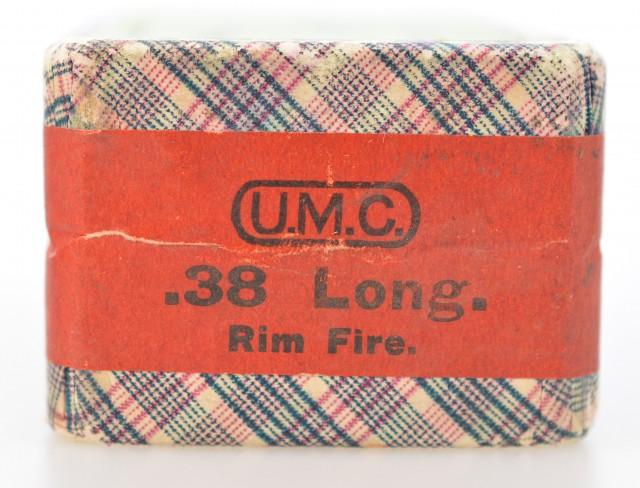 Sealed Box UMC 38 long Rim Fire Cartridges Ammo .38 RF
