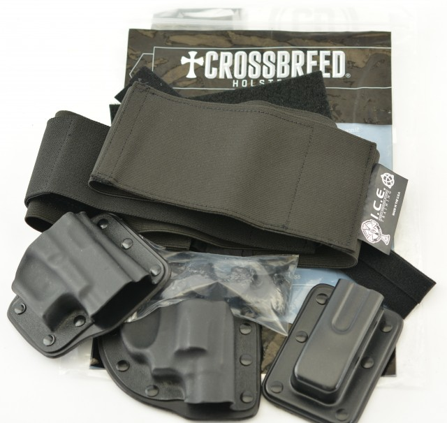 Crossbreed Modular Belly Band Holster Set Revolver + Glock