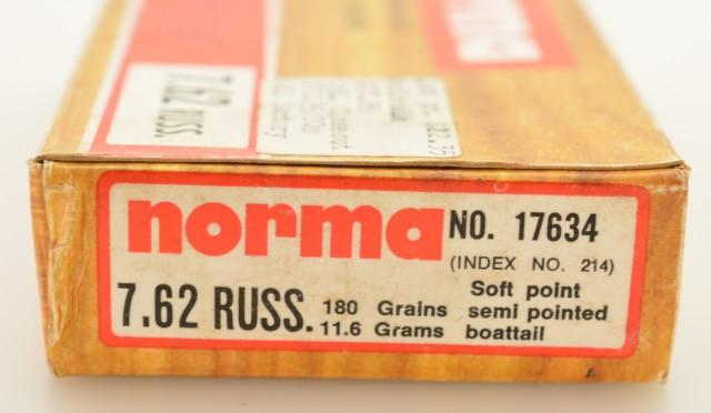 Full Box Norma 7.62 x 54R 180 Grain SPSPB Ammo 20 Rds.