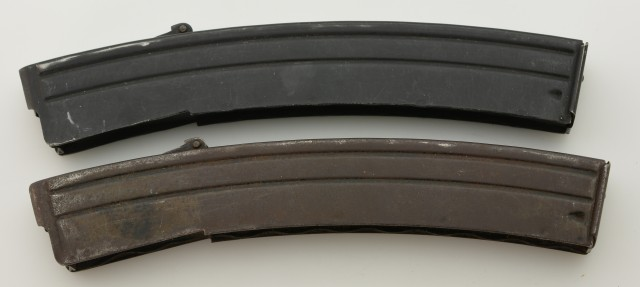 Two Steel Sterling 9mm SMG British Magazines 34 Rounds