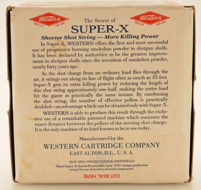Sealed Western Super-X Olin 1992 Centennial 2 Piece Box 12 GA Ammo