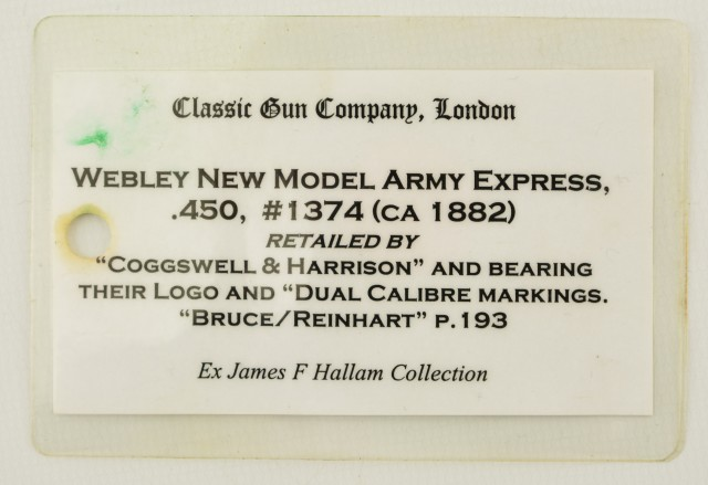Webley No. 5 New Army Express Revolver Published in Webley Revolvers