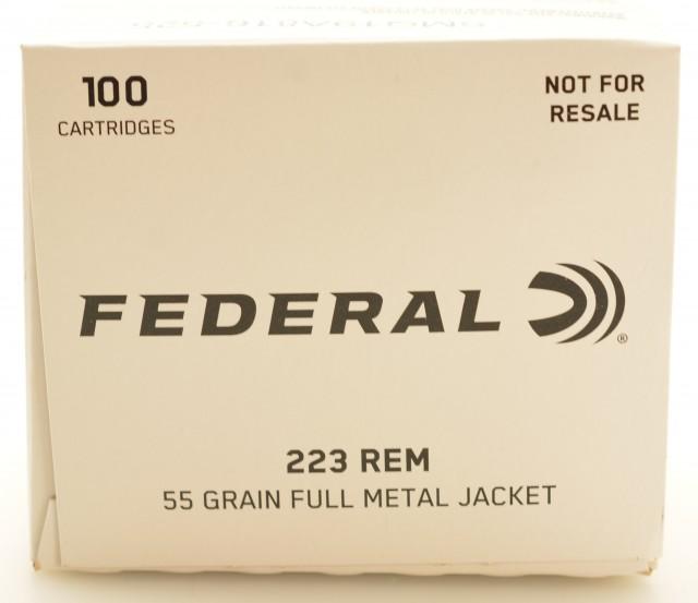 Federal 223 Rem Ammo 200 Round Bulk Pack 55 Grain FMJ