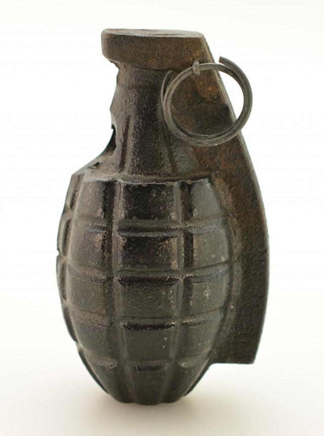 Cast Iron Metal Korean Copy of U.S. WW2 Hand Grenade Training