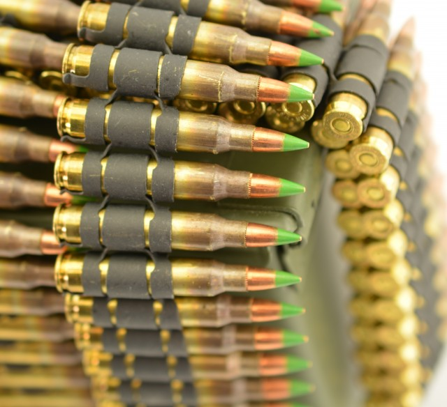 5.56 Ammo in Metal Links for Belt Fed AR Rifles 350 Rounds