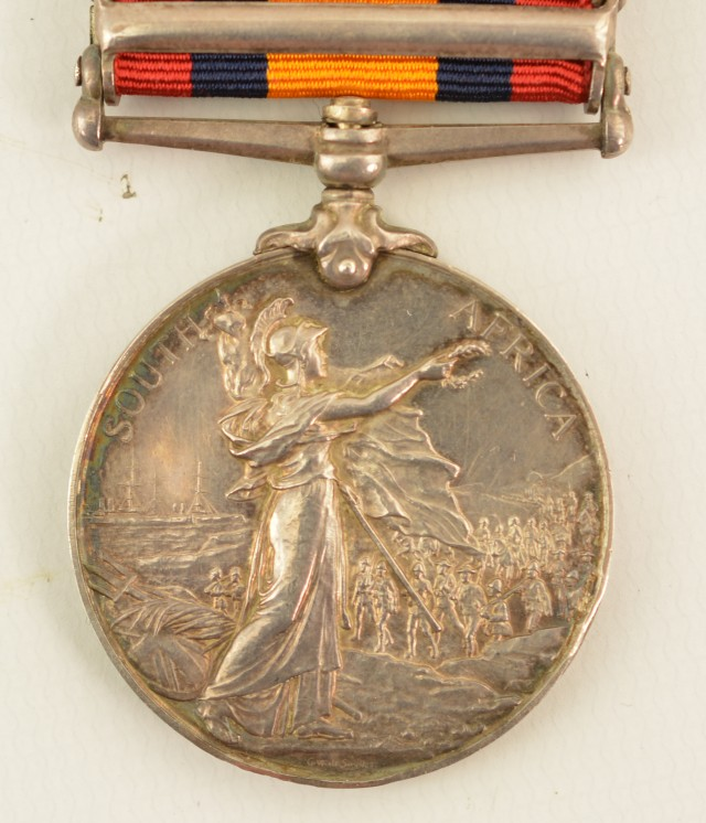 Queen's South Africa Medal with Five Clasps Awarded to Pvt. James Greg