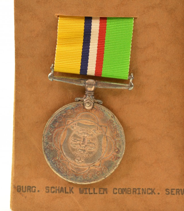 Rare South African Boer War Medal Awarded to Burg. S.W. Combrinck