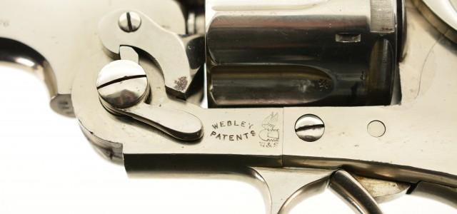 Early Webley WG Army Model 1896 Revolver Nickel