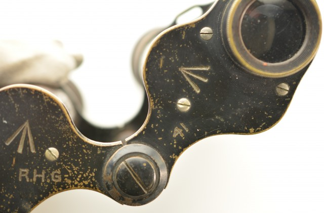 WW1 Era British Military Binoculars With Unit Markings