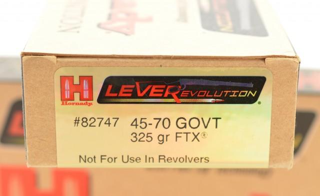 Lever Revolution 45-70 Hornady Ammo 325 Grain FTX 40 Rounds