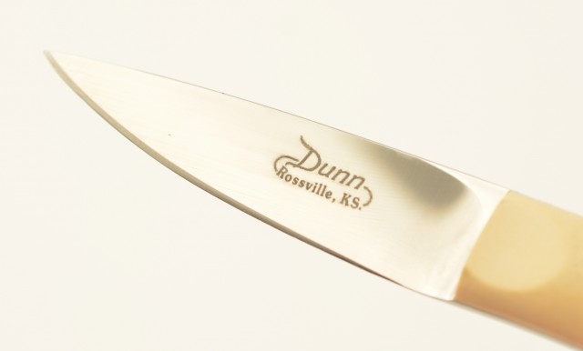 Dunn Small Game & Bird Knife Ivory Micarta Scales Excellent