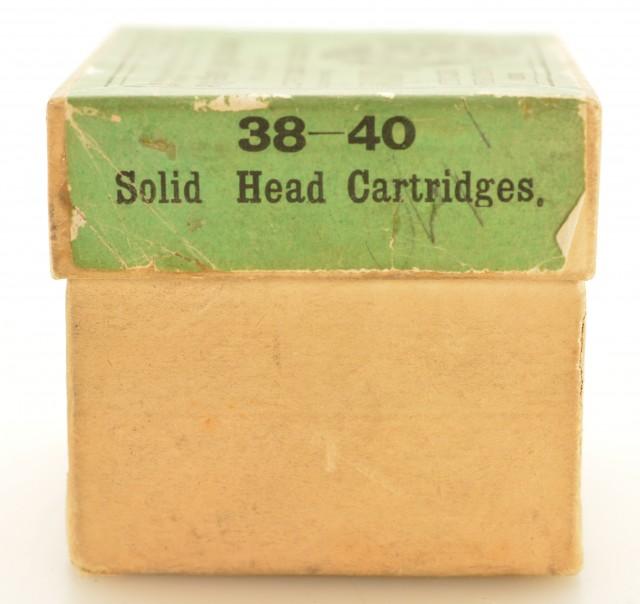 Scarce E. Remington & Sons 38 Cal. 40 Grain Ammo for Mid Range Rifle