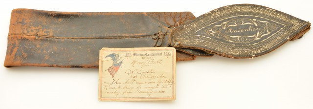Unique 19th Century German Money Belt W/ Provenance Marion Ohio 1830