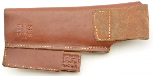 George Lawrence Basketweave 22 Semi-Auto Pistol Holster W/Mag Pouch