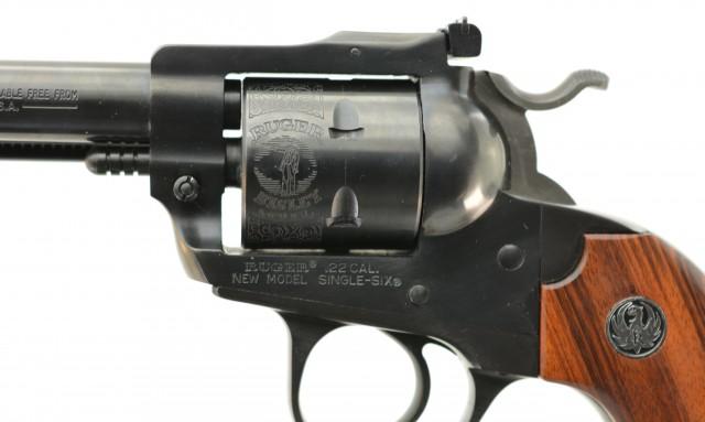 Excellent Ruger Bisley Single-Six 22 LR Mfg 1986 LNIB Engraved Cylind