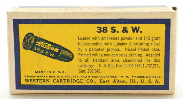 Excellent Western Target Box 38 S&W Ammo 145 GR Lubaloy